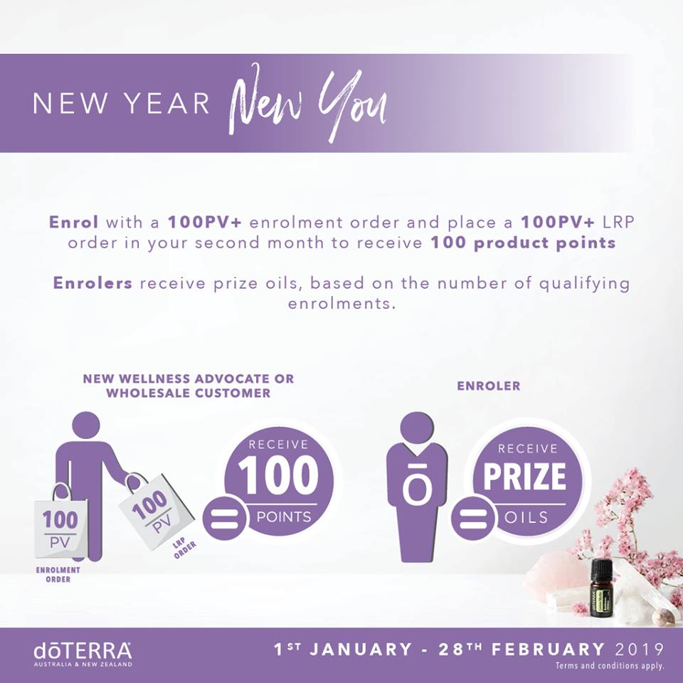 doTERRA Australia January 2019 New Year New Youenrolment offer