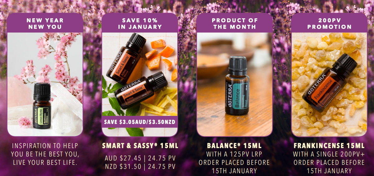 doTERRA 2019 January product and enrolment promotions